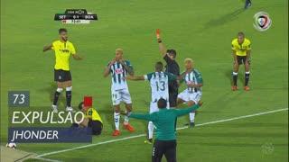 Vitória FC, Expulsão, Jhonder aos 73'