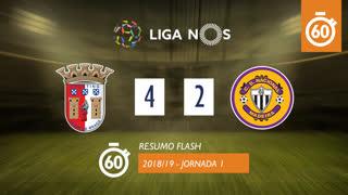Liga NOS (1ªJ): Resumo Flash SC Braga 4-2 CD Nacional