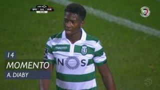 Sporting CP, Jogada, A. Diaby aos 14'