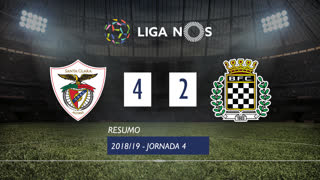 Liga NOS (4ªJ): Resumo Sta. Clara 4-2 Boavista FC