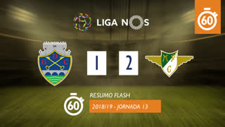 I Liga (13ªJ): Resumo Flash GD Chaves 1-2 Moreirense FC