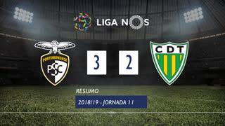 Liga NOS (11ªJ): Resumo Portimonense 3-2 CD Tondela
