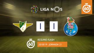 Liga NOS (21ªJ): Resumo Flash Moreirense FC 1-1 FC Porto