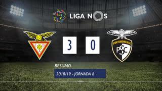 Liga NOS (6ªJ): Resumo CD Aves 3-0 Portimonense