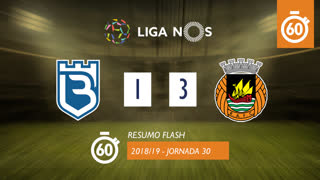 Liga NOS (30ªJ): Resumo Flash Belenenses SAD 1-3 Rio Ave FC