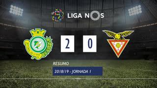 Liga NOS (1ªJ): Resumo Vitória FC 2-0 CD Aves
