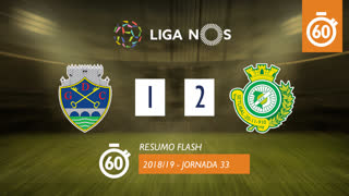 Liga NOS (33ªJ): Resumo Flash GD Chaves 1-2 Vitória FC