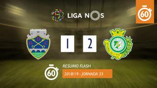 I Liga (33ªJ): Resumo Flash GD Chaves 1-2 Vitória FC
