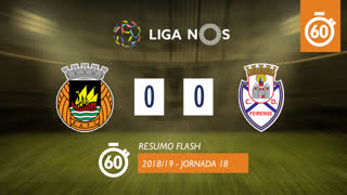 Liga NOS (18ªJ): Resumo Flash Rio Ave FC 0-0 CD Feirense