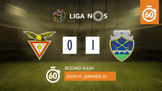 Liga NOS (26ªJ): Resumo Flash CD Aves 0-1 GD Chaves