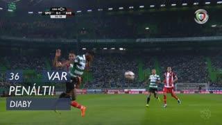 Sporting CP, Penálti, A. Diaby aos 36'