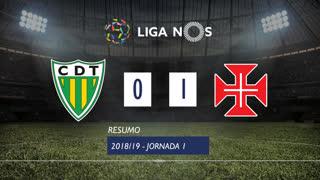 Liga NOS (1ªJ): Resumo CD Tondela 0-1 Belenenses