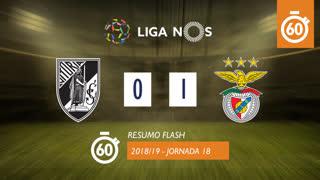 Liga NOS (18ªJ): Resumo Flash Vitória SC 0-1 SL Benfica