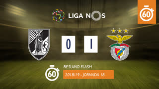 I Liga (18ªJ): Resumo Flash Vitória SC 0-1 SL Benfica