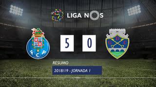 Liga NOS (1ªJ): Resumo FC Porto 5-0 GD Chaves