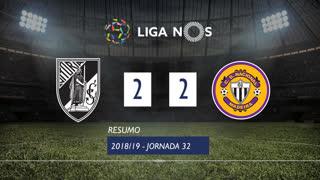 Liga NOS (32ªJ): Resumo Vitória SC 2-2 CD Nacional