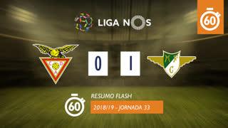 Liga NOS (33ªJ): Resumo Flash CD Aves 0-1 Moreirense FC