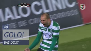 GOLO! Sporting CP, Bas Dost aos 48', Sporting CP 3-1 CD Aves