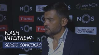 Liga (5ª): Flash interview Sérgio Conceição