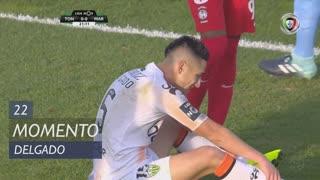 CD Tondela, Jogada, Delgado aos 22'