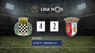 Liga NOS (33ªJ): Resumo Boavista FC 4-2 SC Braga