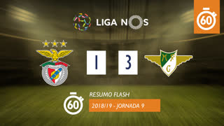 Liga NOS (9ªJ): Resumo Flash SL Benfica 1-3 Moreirense FC