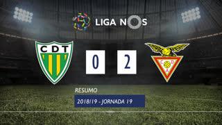 Liga NOS (19ªJ): Resumo CD Tondela 0-2 CD Aves