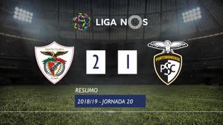 Liga NOS (20ªJ): Resumo Sta. Clara 2-1 Portimonense