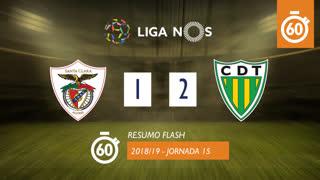 Liga NOS (15ªJ): Resumo Flash Santa Clara 1-2 CD Tondela