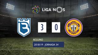 Liga NOS (34ªJ): Resumo Belenenses 3-0 CD Nacional