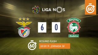 Liga NOS (30ªJ): Resumo Flash SL Benfica 6-0 Marítimo M.