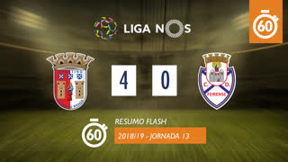 Liga NOS (13ªJ): Resumo Flash SC Braga 4-0 CD Feirense