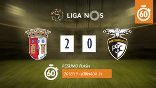 Liga NOS (34ªJ): Resumo Flash SC Braga 2-0 Portimonense
