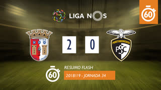 I Liga (34ªJ): Resumo Flash SC Braga 2-0 Portimonense