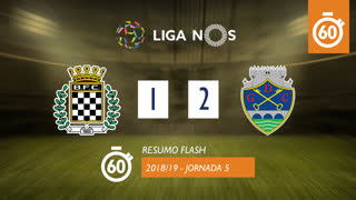 I Liga (5ªJ): Resumo Flash Boavista FC 1-2 GD Chaves