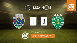 Liga NOS (27ªJ): Resumo Flash GD Chaves 1-3 Sporting CP