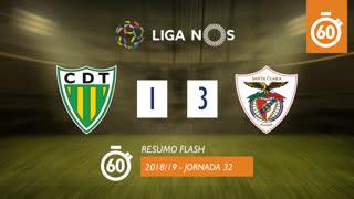 Liga NOS (32ªJ): Resumo Flash CD Tondela 1-3 Santa Clara
