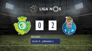 Liga NOS (5ªJ): Resumo Vitória FC 0-2 FC Porto