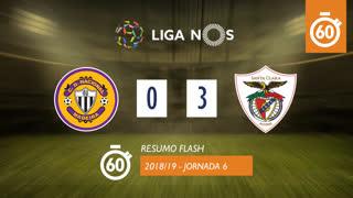 Liga NOS (6ªJ): Resumo Flash CD Nacional 0-3 Santa Clara
