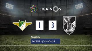 Liga NOS (34ªJ): Resumo Moreirense FC 1-3 Vitória SC
