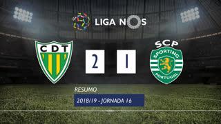 I Liga (16ªJ): Resumo CD Tondela 2-1 Sporting CP