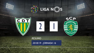 Liga NOS (16ªJ): Resumo CD Tondela 2-1 Sporting CP