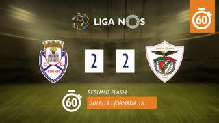 Liga NOS (16ªJ): Resumo Flash CD Feirense 2-2 Santa Clara