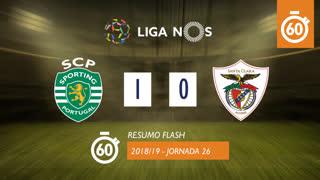 Liga NOS (26ªJ): Resumo Flash Sporting CP 1-0 Sta. Clara
