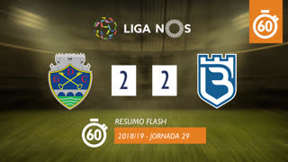 Liga NOS (29ªJ): Resumo Flash GD Chaves 2-2 Belenenses SAD