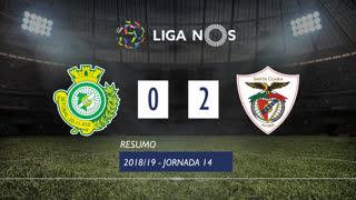 Liga NOS (14ªJ): Resumo Vitória FC 0-2 Sta. Clara