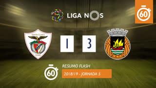 I Liga (5ªJ): Resumo Flash Sta. Clara 1-3 Rio Ave FC