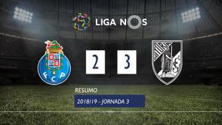 Liga NOS (3ªJ): Resumo FC Porto 2-3 Vitória SC