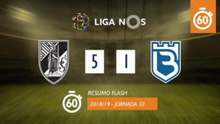Liga NOS (33ªJ): Resumo Flash Vitória SC 5-1 Belenenses
