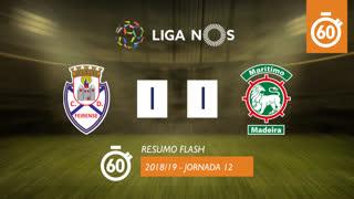 Liga NOS (12ªJ): Resumo Flash CD Feirense 1-1 Marítimo M.